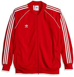 adidas Originals Men's Superstar Track Jacket Collegiate red