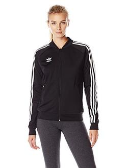 adidas Originals Women's Superstar Track Jackets, Black, Sma