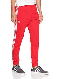 adidas Originals Men's Superstar Trackpants, Collegiate red,