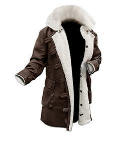 swedish long brown leather mens shearling jacket