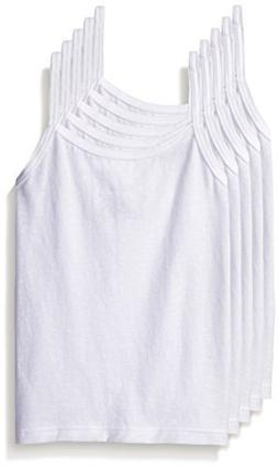 Hanes TAGLESS Toddler Girls' Cami White 5-Pack 4T