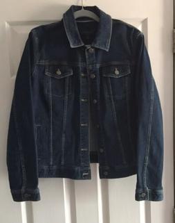 Talbot's Women's Dark Denim Jean Jacket Size XL New With Tag