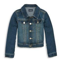 The Children's Place Big Girls' Denim Jacket, Dark Stone, La