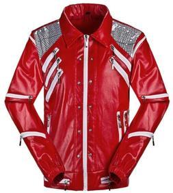 Michael Jackson Thriller Jacket Coats Beat It Red Jackets Co