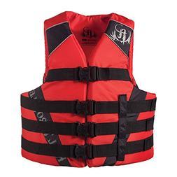 Full Throttle Adult Nylon Water Sports Vest, Red