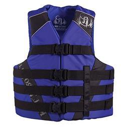 Full Throttle Adult Dual-Sized Nylon Water Sports Vest, Blue