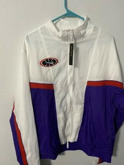 Nike Throwback Basketball Jacket Men's White Full Zip Track