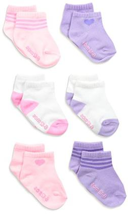 Hanes Girls' Infant Toddler Ankle Socks 6-Pack