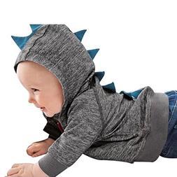 Sunbona Toddler Baby Boys Cute Autumn Outerwear Jacket Dinos
