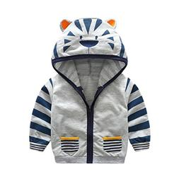Sunbona Toddler Baby Boys Cute Cartoon Animal Hooded Zipper