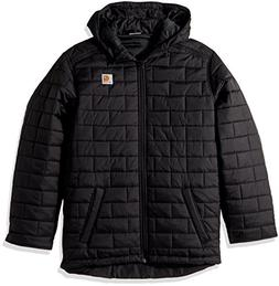 Carhartt Boys' Toddler Gilliam Hooded Jacket, Black, 3T