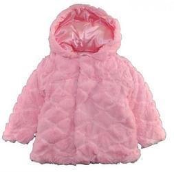 London Fog Toddler Girls Pink Faux Fur Reversible Outerwear