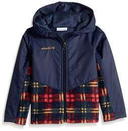 Columbia Girls' Toddler Steens Mt Overlay Hoodie, Mountain R