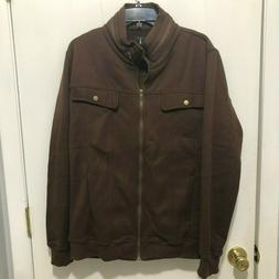 Tom's Ware Full Zip Fleece Lined Brown Jacket Men's SZ Large