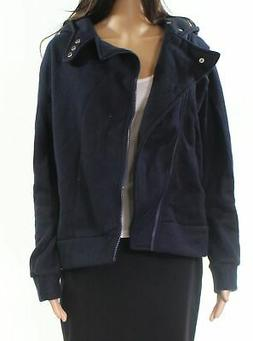 Tom's Ware NEW Navy Blue Womens Size Medium M Hooded Zip-Fro