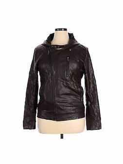 Tom's Ware Women Brown Faux Leather Jacket XL