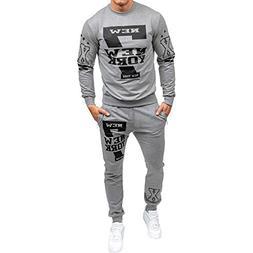 Yuxikong Tracksuit Mens Autumn Winter Printed Sweatshirt Top