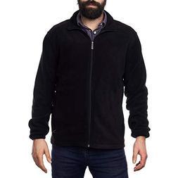 alpine swiss Trent Mens Full Zip Up Fleece Jacket Black