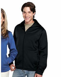 Tri-Mountain Men's Long Sleeve Polyester Fleece Hooded Full