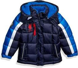 U.S. Polo Assn. Big Boys Navy Blue Bubble Jacket Size 8 10/1