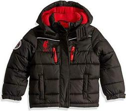 U.S. Polo Assn. Boys Black Bubble Jacket Size 2T 4 5/6 7