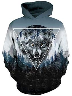 Uideazone Unisex 3D Designed Cool Wolf Printing Hip Hop Acti