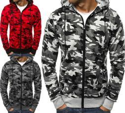 US Men Winter Slim Fit Hoodie Hooded Sweatshirt Coat Jacket