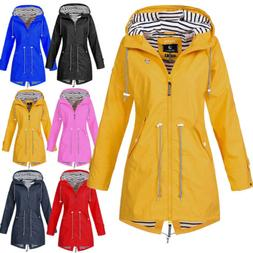 US Women Waterproof Solid Color Outdoor Jacket Jacket Wind J