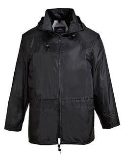 Portwest US440BKR4XL Classic Rain Jacket, Fabric, 4XL, Black