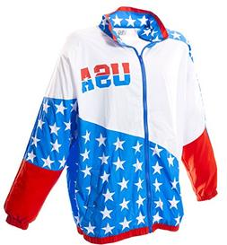 usa 80s and 90s retro windbreaker small