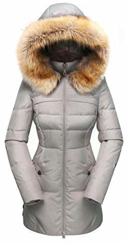 Beinia Valuker Women's Down Coat Hooded 90D Parka Puffer Jac