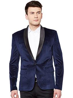 WINTAGE Men's Premium Velvet Notch Lapel Tuxedo Coat Blazer