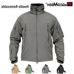 Waterproof Mens Jackets Tactical Fleece Lined Jacket Warm Wi