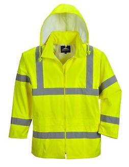 waterproof rain jacket lightweight yellow 3x large