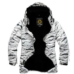 Southplay Mens Waterproof Sky-snowboard Military Jacket Whit