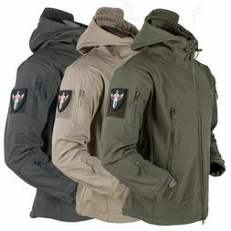 3 in 1 Waterproof Tactical Soft Shell Mens Jacket Coat Army
