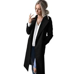 TOPUNDER - Apparel Winter Cardigan Womens Long Coat Lapel Pa