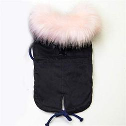 Hakazhi Inc Winter Dog Clothes Luxury Faux Fur Collar Dog Co