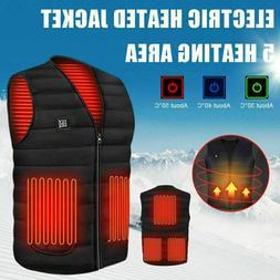 Winter Electric Heated Vest Warm Body USB Unisex Men Women H