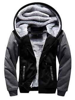 GEEK LIGHTING Men's Winter Heavyweight Fleece Hoodie Jackets