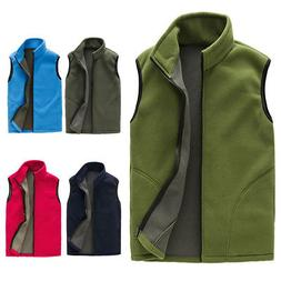 Winter Men's Fleece Vests Outwear Coats Jacket Fashion Sweat