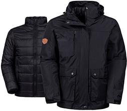 Wantdo Men's Winter Ski Jacket Water Resistant 3-In-1 Jack
