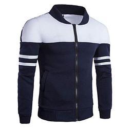 Bon Soir Winter Zipper Sportswear Fashion Men's Autumn Patch