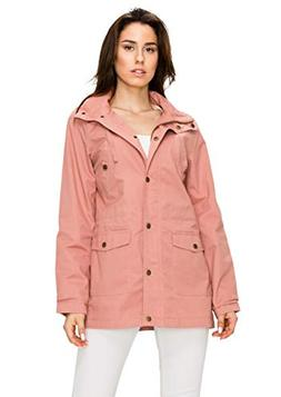 WJC1862 Womens Casual Safari Anorak Jacket with Hoodie 3X Ma