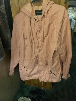 womans plus size ambiance pink jacket coat size 3XL guc