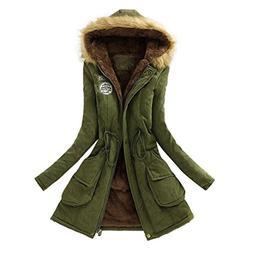 Women Coat,Sothread Fall Fashion Warm Elegant Long Hooded Ja