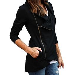 kaifongfu Women's Jacket, Coat Slim Blazer Fit Outwear Zippe