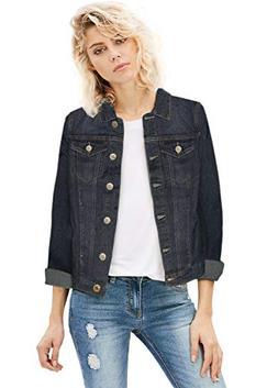 Women Junior Classic 4 Pockets Denim Jacket JK175592 Dark WA