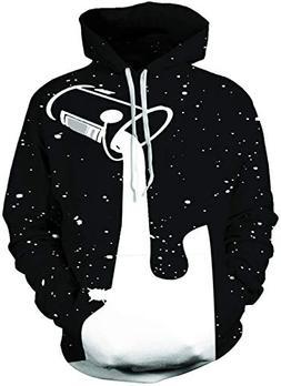 Women Men Hooded Sweater 3D Printed Graffiti White Paint Dot