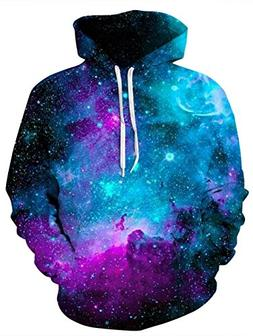 Uideazone Women Mens Space Collection All Over Galaxy Print